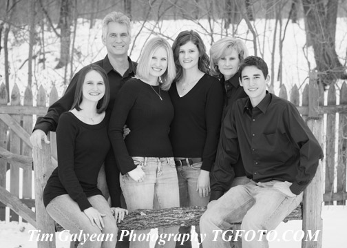 Family portraits Overland Park Kansas City area Black and white